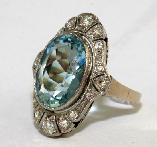 antique aquamarine engagement rings wedding and bridal