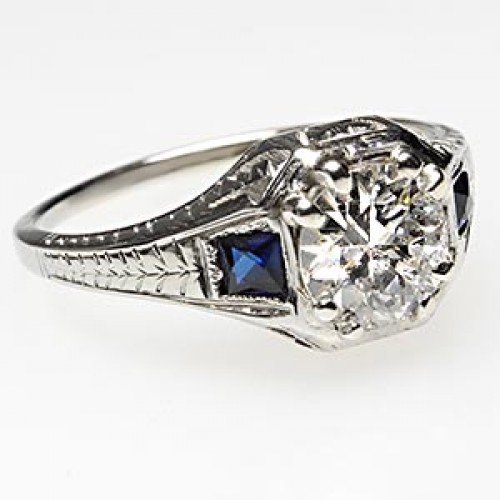 antique and sapphire engagement rings wedding