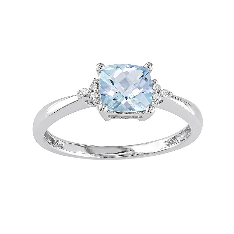 Aquamarine engagement rings white gold wedding and for Wedding rings aquamarine