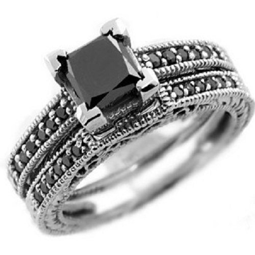 Black diamond engagement rings meaning wedding and for Black wedding rings meaning