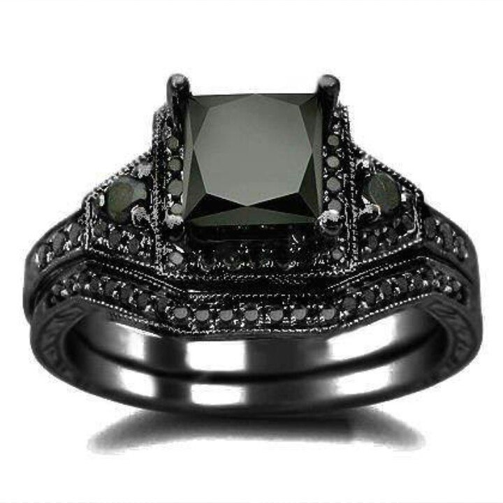 Black Diamond Engagement Rings Perfect for Men Wedding and Bridal Inspira