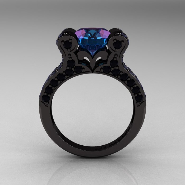 Black Metal Engagement Rings Wedding and Bridal Inspiration