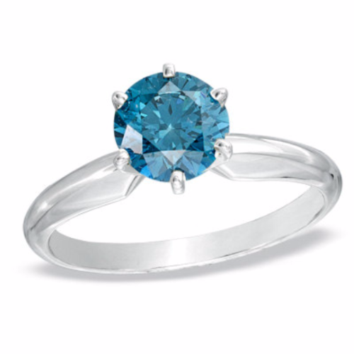 blue solitaire engagement ring wedding and