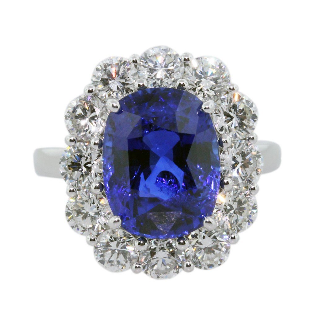 Blue Sapphire Engagement Rings Meaning Wedding and Bridal Inspiration