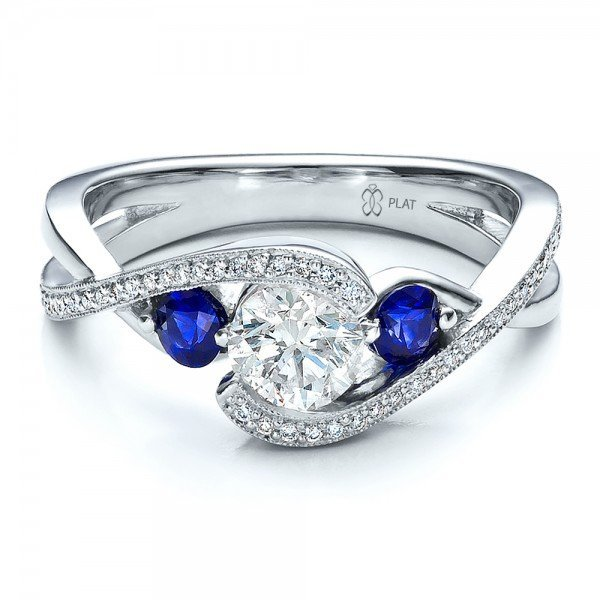 cheap blue sapphire engagement rings wedding and bridal