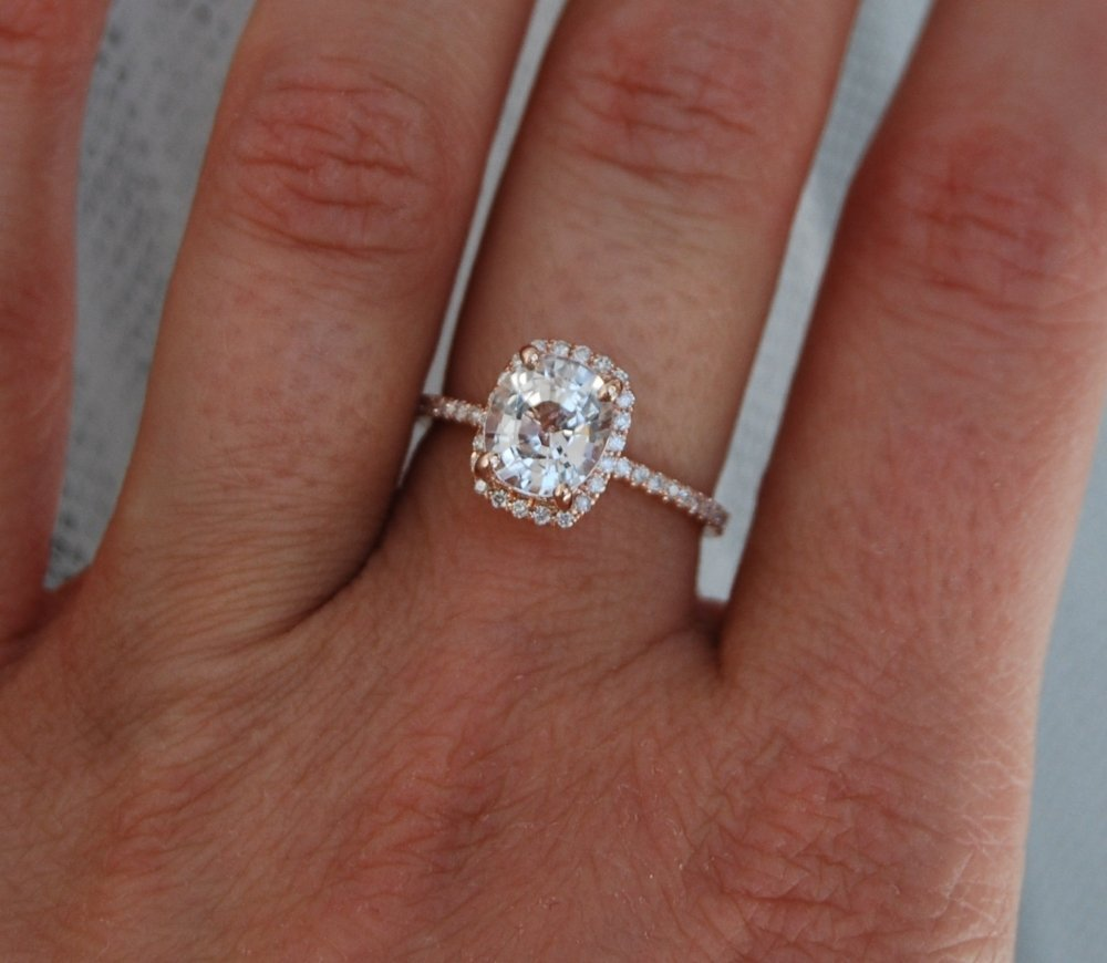 Clear Sapphire Engagement Rings Wedding and Bridal Inspiration