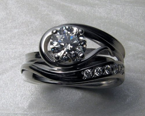 custom unique engagement rings wedding and bridal