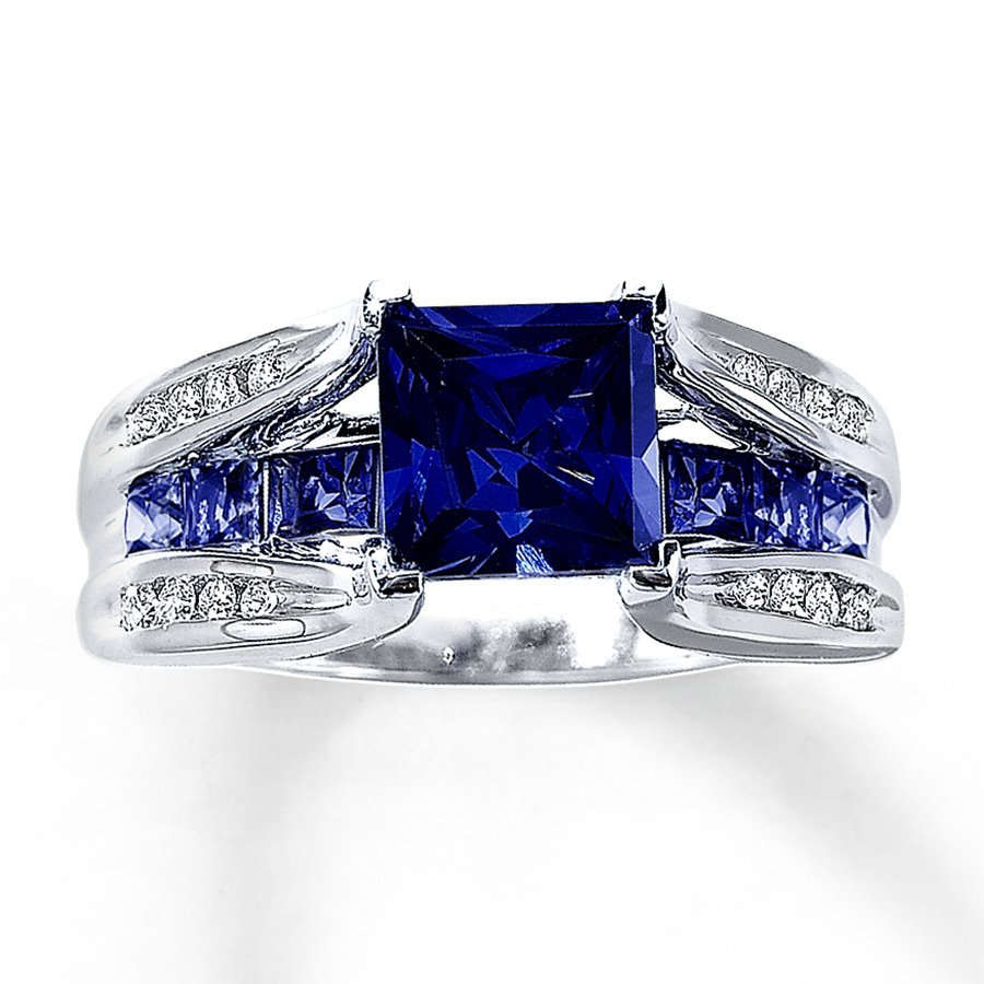 Lab Created Sapphire Engagement Rings Wedding and Bridal Inspiration