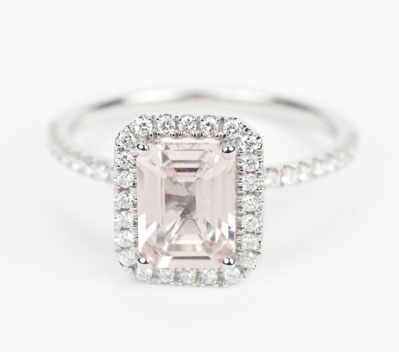 Light Pink Sapphire Engagement Rings Wedding and Bridal Inspiration