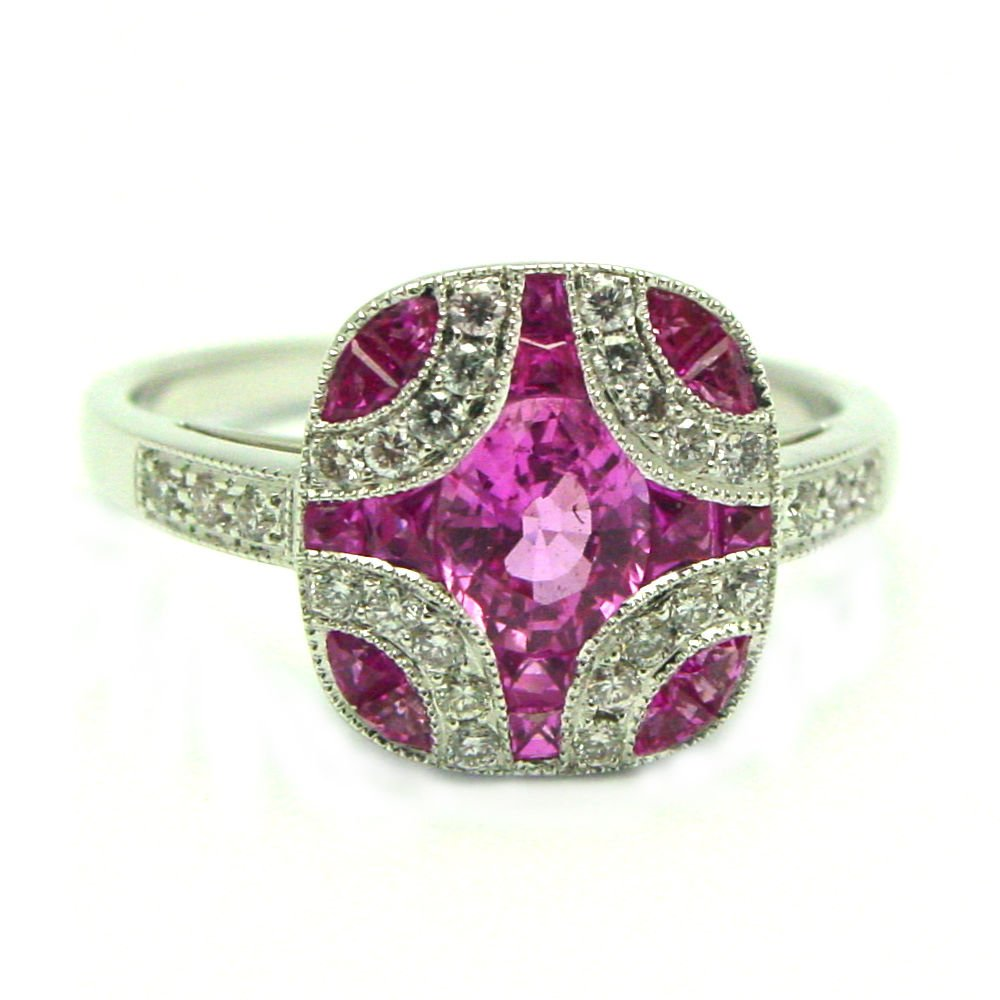 Pink sapphire engagement rings meaning wedding and for Sapphire wedding rings meaning