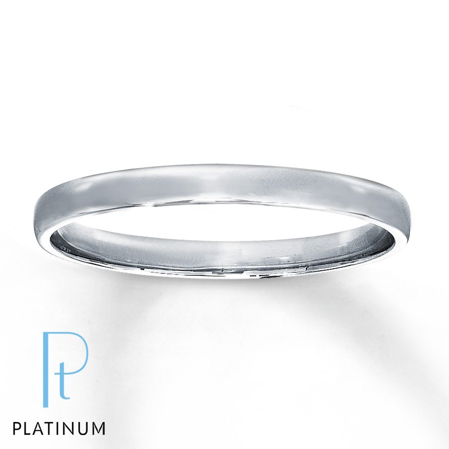 Platinum band wedding