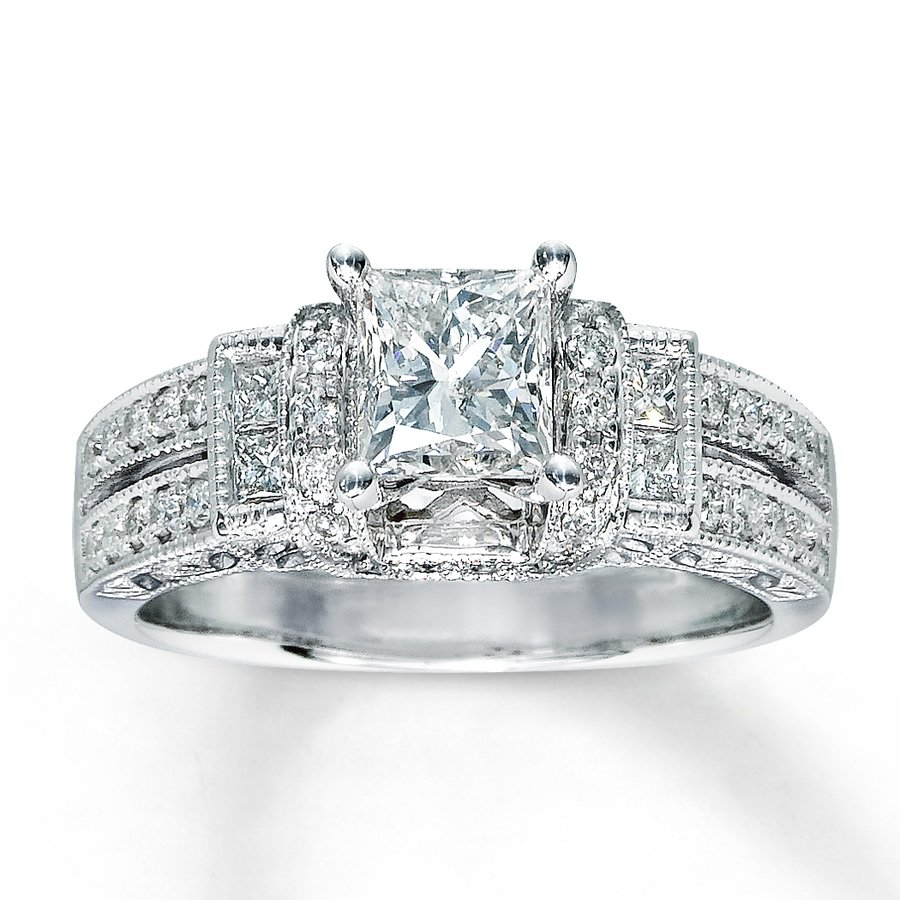 Princess Cut Wedding Rings for Women Wedding and Bridal Inspiration