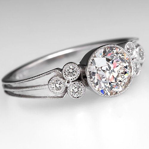 vintage bezel set engagement rings wedding and bridal