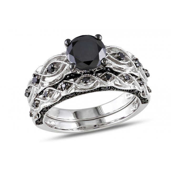 Vintage Black Diamond Engagement Rings Wedding and Bridal Inspiration