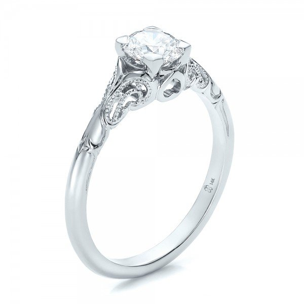 white sapphire solitaire engagement ring wedding and