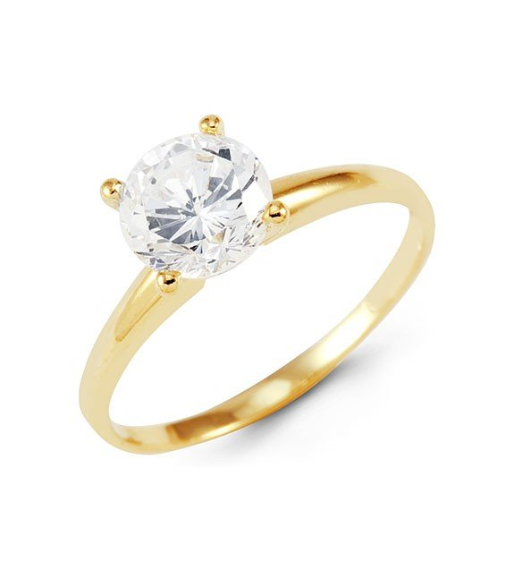 yellow gold cubic zirconia engagement rings wedding and