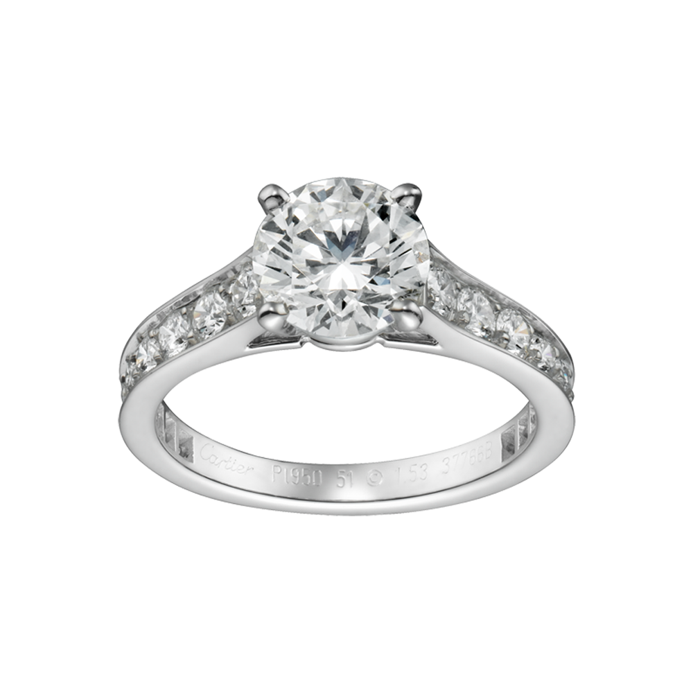 cartier 1895 engagement ring wedding and bridal inspiration