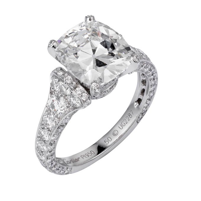 cartier cushion cut engagement rings wedding and bridal