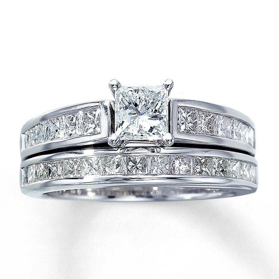 princess cut diamond wedding ring sets wedding and. Black Bedroom Furniture Sets. Home Design Ideas