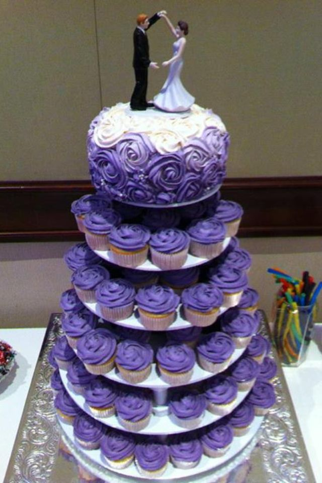 Wedding Cakes with Cupcakes on Tiers - Wedding and Bridal ...