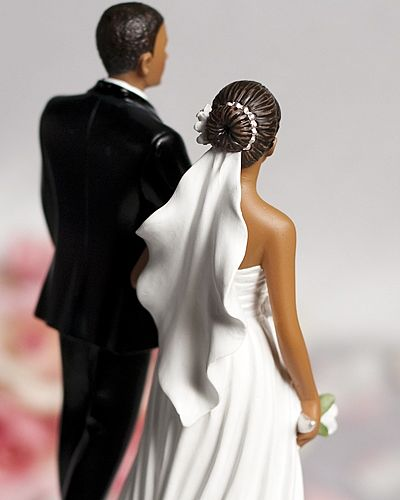 Custom Interracial Cake Toppers