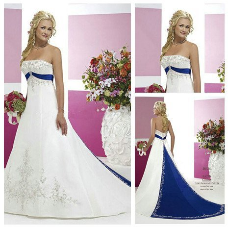 Blue And Silver Wedding Dresses