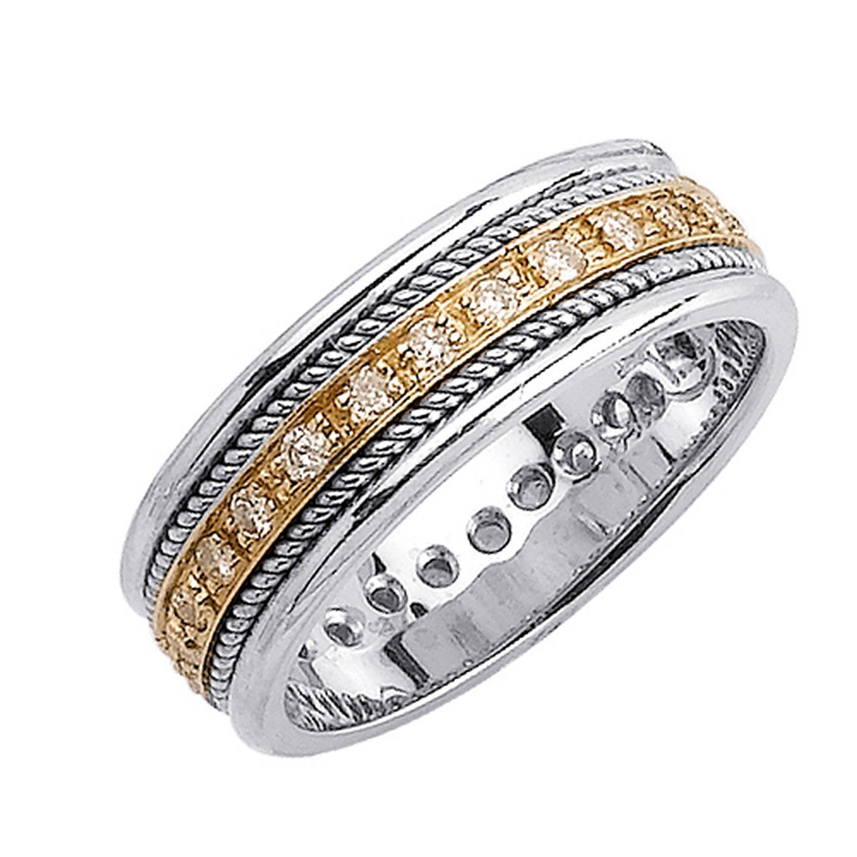 Men gold diamond wedding bands wedding and bridal for Diamond mens wedding bands