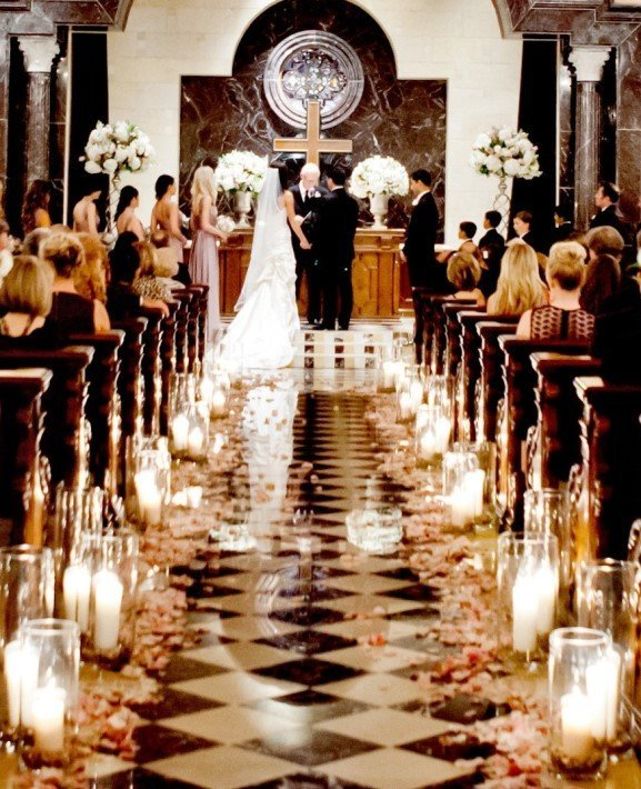 The Ceremony Decor: Wedding Ceremony Decorations Church