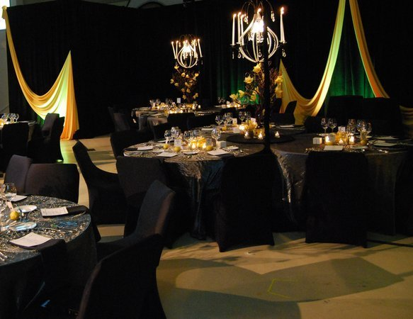 Black and gold wedding decorations wedding and bridal inspiration - Black and gold wedding reception decorations ...