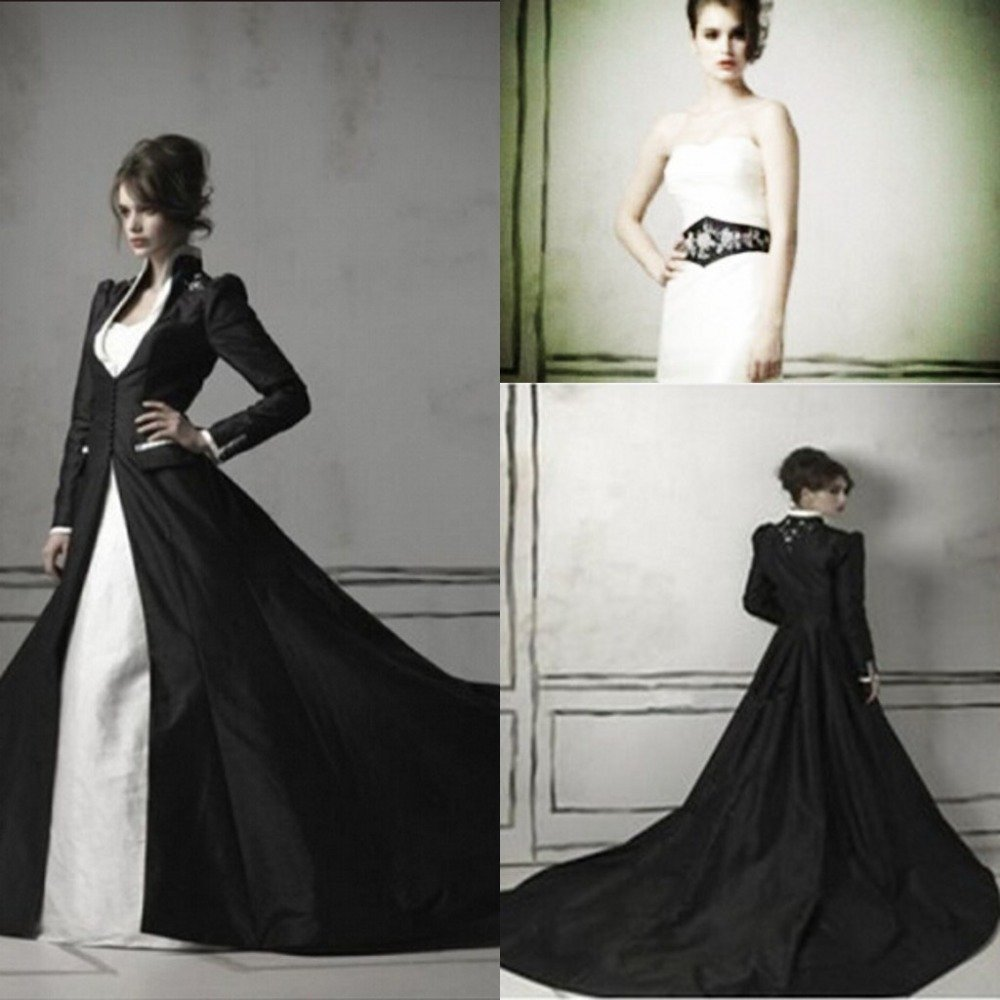 Black and white wedding dresses pictures wedding and for Images of black wedding dresses