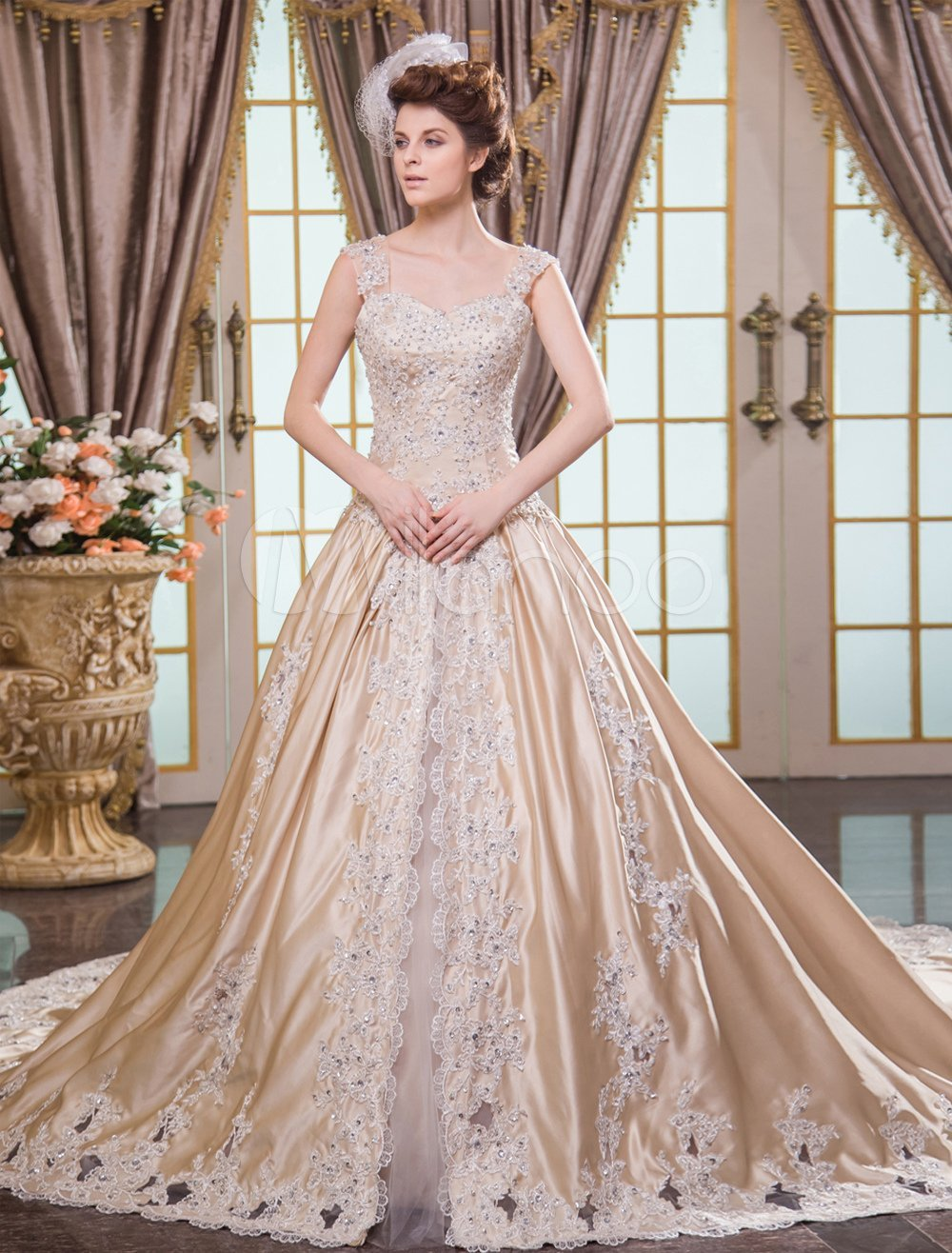 How to get the best champagne wedding dresses wedding for Champagne color wedding dresses