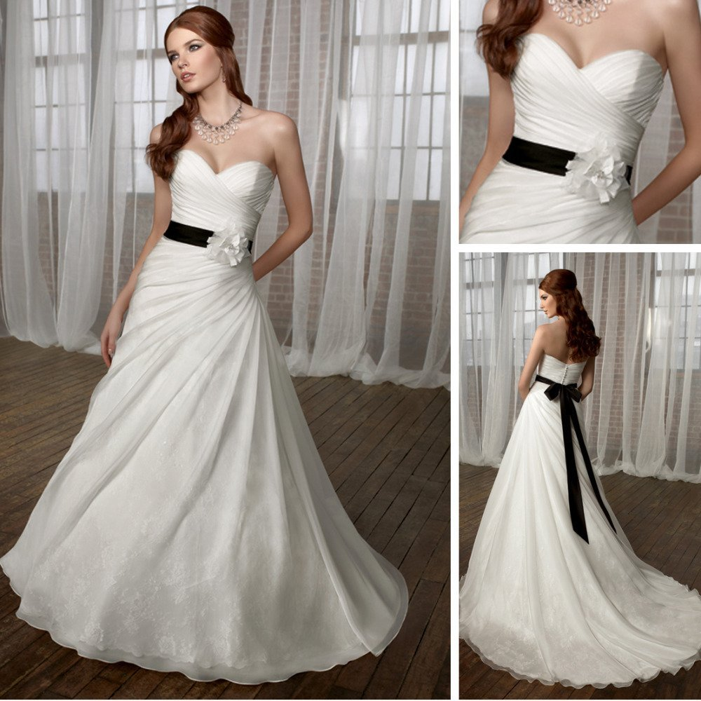 Cheap black and white wedding dresses wedding and bridal for White wedding dress cheap