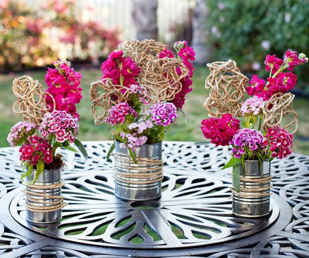 • Find Branches Outside and use them as a centerpiece. If you already have some simple vases, this is a cheap and easy way to make the table feel a little festive.