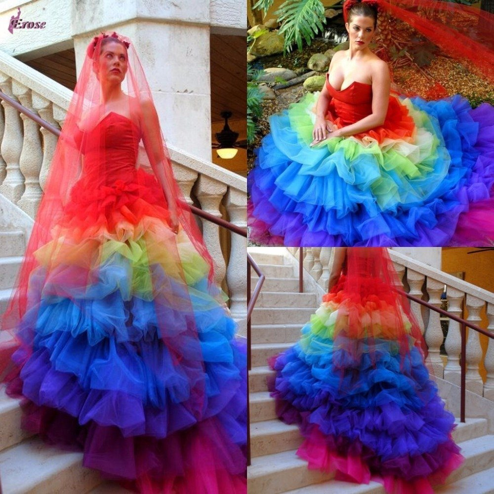 Colorful Wedding Dresses: Wedding And Bridal Inspiration