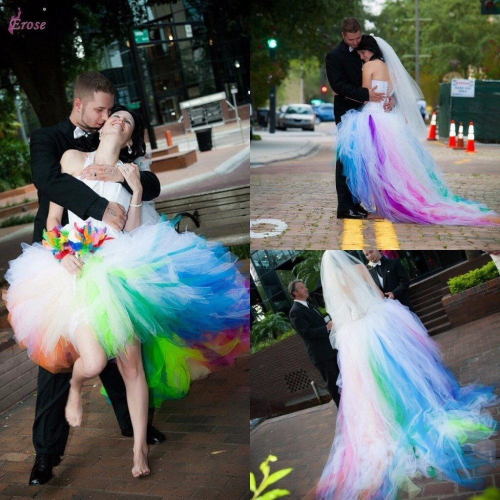 different colored wedding dresses wedding and bridal