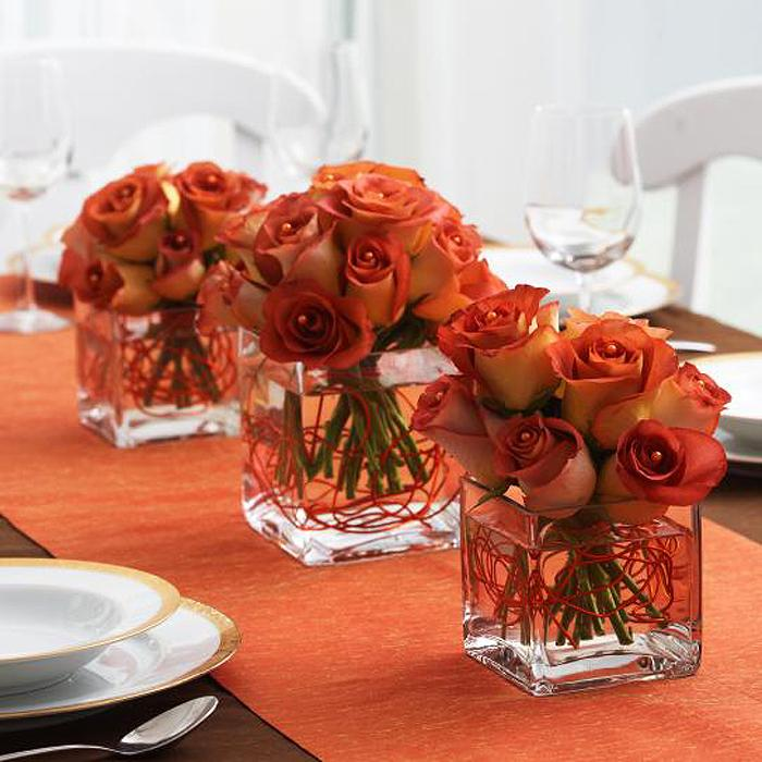 Fall wedding reception decorations and bridal