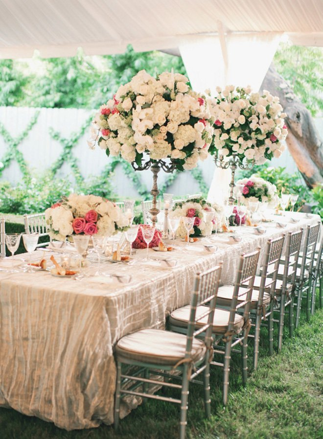 Long table wedding centerpieces wedding and bridal for Long table centerpieces