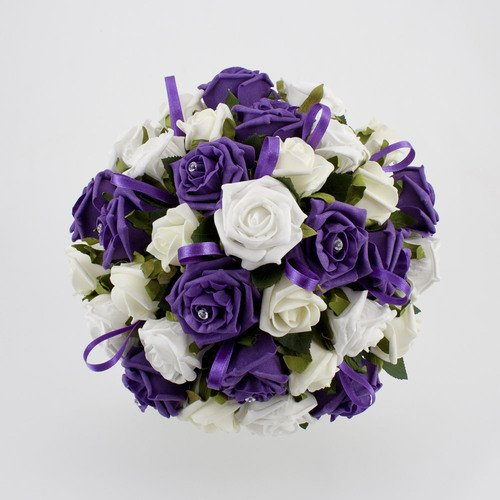 purple and silver wedding bouquets wedding and bridal