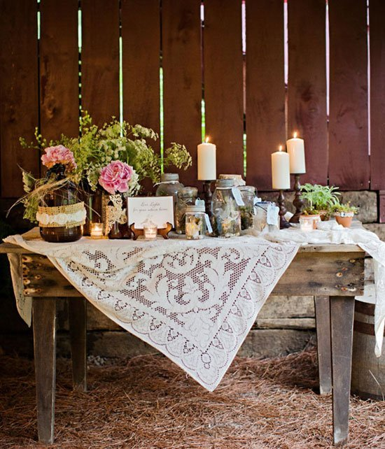 Country Wedding Centerpieces Ideas: Rustic Country Wedding Decoration Ideas