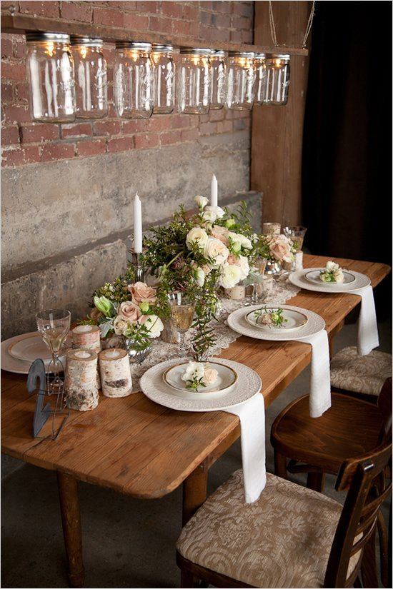 Rustic elegance wedding decor wedding and bridal inspiration Elegance decor
