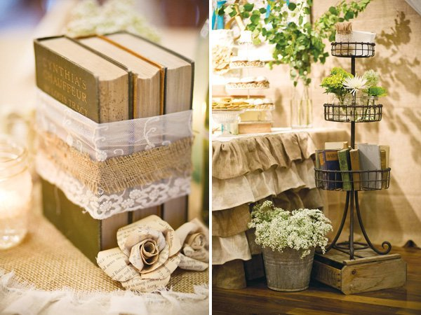 Rustic vintage wedding decor and bridal inspiration