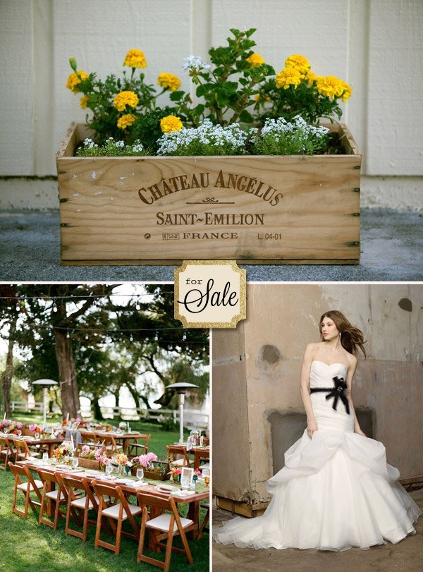 Rustic wedding decorations for sale and bridal