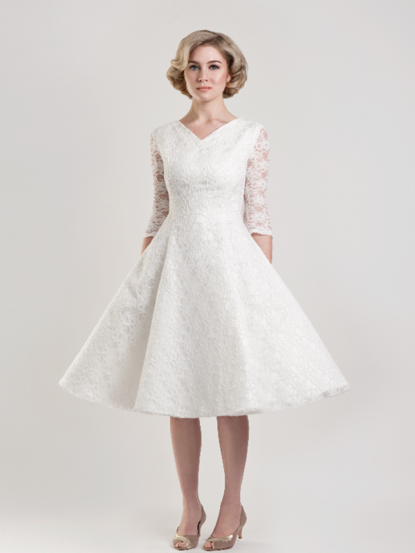 Wedding Dress For Short Brides : Short wedding dresses for older brides and