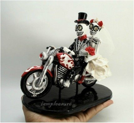 Skull Wedding Cake Toppers  Wedding And Bridal Inspiration