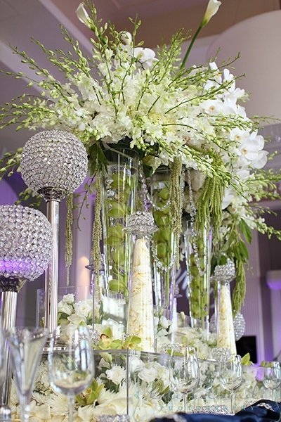 Tall candle holders for wedding centerpieces and