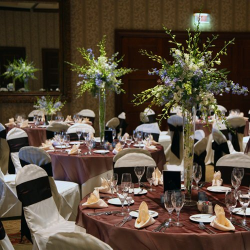 Tall glass vases for wedding centerpieces and