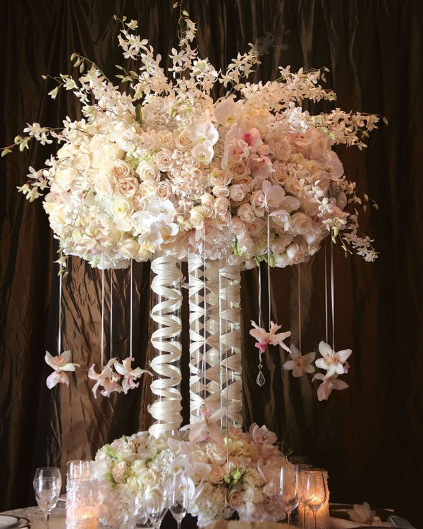 Tall wedding centerpieces on a budget and bridal