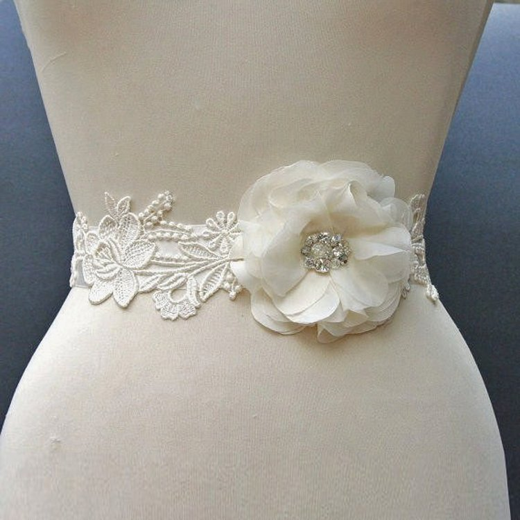 Unique wedding dress sashes belts wedding and bridal for Wedding dress belt sash