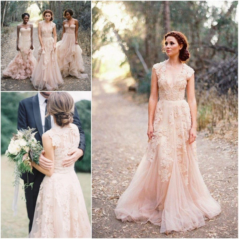 Vintage country wedding dresses wedding and bridal for Country wedding party dresses
