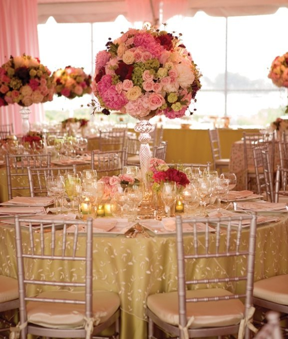 Wedding centerpieces for round tables and bridal